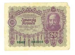 IMPERO AUSTRO UNGARICO - ANNO 1922 - 20  KRONEN - QUALITA' B - SERIALE 1042 - 043006 - WYSIWYG - Austria