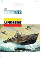 KAT313 Modellbauprospekt Lindberg HobbyKits 1977, A4-Format, 15 Seiten, Deutsch - Littérature & DVD