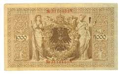 IMPERO TEDESCO - ANNO 1910 - 1000 MARK - QUALITA' MB - SERIALE ROSSO Nr3116461A - WYSIWYG - [ 2] 1871-1918 : Impero Tedesco