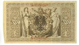 IMPERO TEDESCO - ANNO 1910 - 1000 MARK - QUALITA' MB - SERIALE ROSSO Nr4798020A - WYSIWYG - [ 2] 1871-1918 : Impero Tedesco