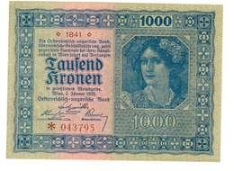 IMPERO AUSTRO UNGARICO - ANNO 1922 - 1000 KRONEN - QUALITA' MB - SERIALE 1841 - *043795 - WYSIWYG - Austria