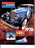 KAT319 Modellprospekt MONOGRAM 1978 One Dollar, Englisch, Neu - Literature & DVD