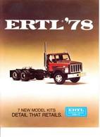 KAT320 Modellbauprospekt ERTL 1978, Englisch, Neu - Littérature & DVD