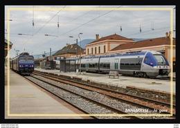 74  ANNEMASSE   ... La  Gare Interieure Et Train En Gare - Annemasse
