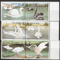 Isle Of Man 1991 Birds, Swans Mi 478-483 Three Pairs MNH(**) - Man (Ile De)