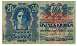 IMPERO AUSTRO UNGARICO - ANNO 1913 - 20 KRONEN - QUALITA' MB - SERIALE 423867 - 1182 - WYSIWYG - Austria