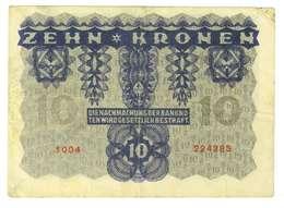 IMPERO AUSTRO UNGARICO - ANNO 1922 - 10 KRONEN - QUALITA' B - SERIALE 1004 - 224285 - WYSIWYG - Austria