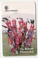 ANTIGUA & BARBUDA CABLE & WIRELESS MV Cards ANT-C7 40$ HIGHLANDERS - Antigua Et Barbuda