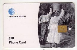 DOMINIQUE REF MV CARDS DOM-C2 Année 1999 20$ WATER CARRIES - Dominique