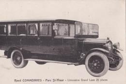CPA   : Rare Carte Publicitaire Limousine Grand Luxe 25 Places René Commeinhes  St Maur  Autocar - Bus & Autocars
