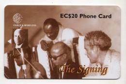 SAINTE LUCIE REF MV CARDS STL-254B Année 1998 The Signing 20$ - Saint Lucia