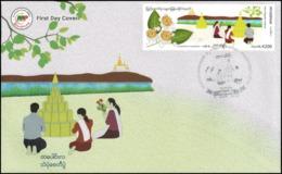 Festivals In Myanmar: Sand Pagodas Festival -FDC(I)-I- (MNH) - Myanmar (Birmanie 1948-...)
