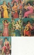 GREECE(chip) - Set Of 7 Cards, Painting/Folk Art, 01/00, Used - Télécartes