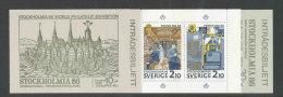 """SUEDE 1986 - CARNET  YT C1381 - Facit H371 - Neuf ** MNH - Expo """"Stockholmia' 86, 350è Anniversaire Des Postes Suédoises - Carnets"""