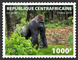 CENTRAL AFRICA 2019 - Gorilla, 1v. Official Issue - Gorilles
