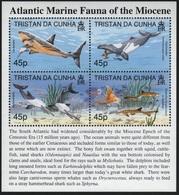 Tristan Da Cunha - 1998 - Atlantic Marine Fauna Of Miocene - Yv 607/10 - Prehistorics