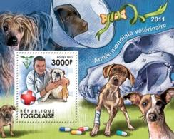 Togo  2011  World Veterinary Year 2011. Dogs - Togo (1960-...)