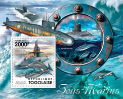 Togo  2011 Submarines & Dolphins - Togo (1960-...)