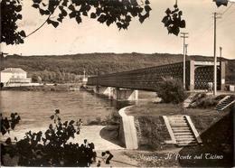 (C).Oleggio(NO).Ponte Sul Ticino.Viaggiata.Francobollo Asportato (c16) - Novara