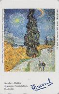 Télécarte Japon / 110-011 - PEINTURE FRANCE - VAN GOGH - Paysage Arbre Cyprès - Japan Painting Phonecard - 1810 - Malerei