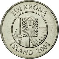 Monnaie, Iceland, Krona, 2006, TTB+, Nickel Plated Steel, KM:27A - IJsland