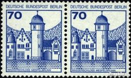 Berlin (West) 538A Horizontale Couple Oblitéré 1977 Châteaux Et Serrures - [5] Berlino