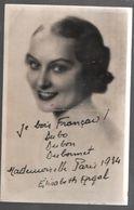 Carte Postale Mademoiselle Argal : Miss Paris 1934 Carte Postale Publicitaire,1934..C01 - Femmes Célèbres