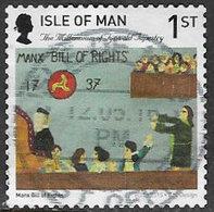 Isle Of Man 2015 Tynwald Tapestry 1st Type 4 Self Adhesive Good/fine Used [39/32008/ND] - Isle Of Man