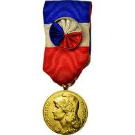 France, Commerce-Travail-Industrie, Médaille, 1968, Non Circulé, Gilt Bronze - Militaria