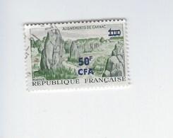 Département De La Réunion Surchargé CFA. Carnac Y & T N°377 Oblitéré Année 1967-68 - Otros