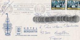L4U273 Espagne L SAN ANTONIO Pour Levallois France 23 05 1981/ Env. Entiere - 1931-Aujourd'hui: II. République - ....Juan Carlos I