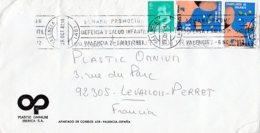 L4U278 Espagne L  VALENCIA Pour Levallois Perret France 29 10 1982/ Env. Entiere - 1931-Aujourd'hui: II. République - ....Juan Carlos I