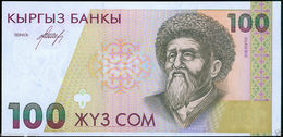 KYRGYZSTAN: Banknote 100 SOM ND 1994 *UNC * P-12*Mountains*Toktogul Lake*Station - Kirghizistan