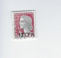 Département De La Réunion Surchargé CFA. Marianne. Y & T N°350 Oblitéré Année 1961-65 - Sonstige