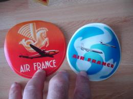 Lot De 2 Ait France  Avion Aviation Etiquette Hotel Bagages Luggage - Etiquettes D'hotels