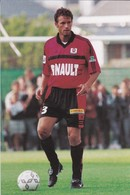FOOTBALL--RENNES--Jean-Luc DOGON--défenseur---championnat 2000---carte PUB--voir  2 Scans - Football