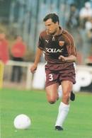 FOOTBALL--METZ--Philippe GAILLOT--défenseur---championnat 2000---carte PUB--voir  2 Scans - Football