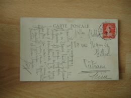 Granville A Paris 1 Er A     Cachet Ambulant Convoyeur Poste Ferroviaire Sur Lettre - Marcophilie (Lettres)