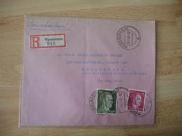 Recommande Wasselheim 1942 Oblieration Timbre Allemand Occupation Alsace Guerre 39.454 - Marcophilie (Lettres)