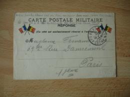 Carte Franchise Postale  2 Fois Paire Drapeau Guerre 14.18 - Postmark Collection (Covers)