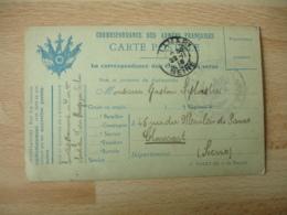 Carte Franchise Postale   Couleur Bleue 5 Drapeaux  Guerre 14.18 - Postmark Collection (Covers)