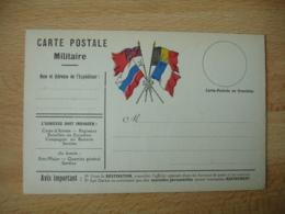 Carte Franchise Postale Guerre 14.18 4 Drapeaux Central  Guerre 14.18 - Postmark Collection (Covers)