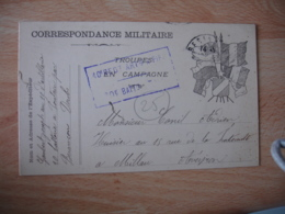 10 Eme Regiment Infanterie Besancon Cachet Franchise Postale Militaire Guerre 14.18 - Marcophilie (Lettres)