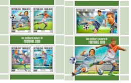 Togo 2019 Cavani Uruguay Neymar Brazil Bruyne Belgium Kane Football MS+S/S TG190142a - Celebridades