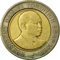 Monnaie, Kenya, 20 Shillings, 1998, British Royal Mint, TB+, Bi-Metallic, KM:32 - Kenya