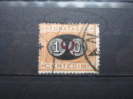 VEND TIMBRE TAXE D ' ITALIE N° 22 !!! - 1878-00 Humbert I.