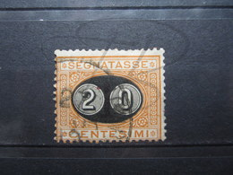 VEND TIMBRE TAXE D ' ITALIE N° 23 !!! - 1878-00 Humbert I.