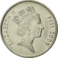 Monnaie, Fiji, Elizabeth II, 10 Cents, 2009, TTB, Nickel Plated Steel, KM:120 - Fidji