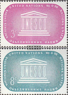 UN - New York 37-38 (complete Issue) Unmounted Mint / Never Hinged 1955 UNESCO - New York – UN Headquarters