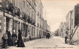Paimboeuf Animée Rue Pierre Jubeau La Poste Attelage Travaux Chantier - Paimboeuf